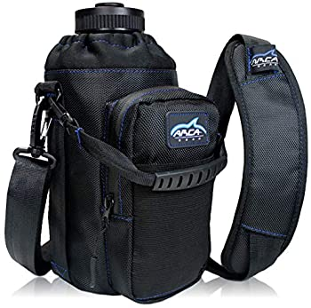Arca Gear 64oz Hydro Carrier - Insulated Water Bottle Sling w/Carry Handle Shoulder Strap Wallet and Two Pouches - The Perfect Flask Accessory