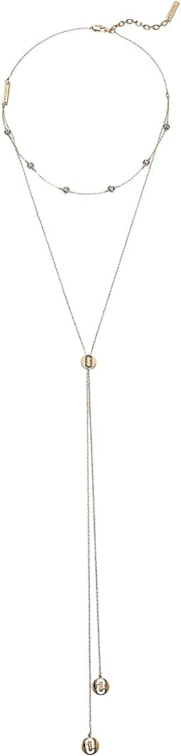 Marc Jacobs - Layered Double J Pave Necklace