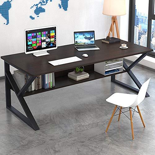 Escritorio Mesa de Ordenador Mesa de Oficina Escritorio de oficina Mesas de Estudio Mesas de Escritorio, Moderno simple de Mesas De Madera con espacio de almacenamiento, 120x60x72cm (WxDxH) MDF