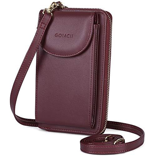 GOIACII Women Wallet, Women Crossbody Phone Bag Ladies Wallet Small Soft PU...