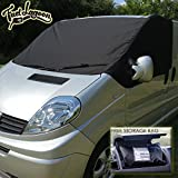 Fuel Lagoon Deluxe - Protector de Parabrisas para Furgoneta, Color Negro