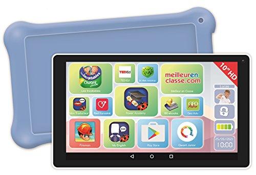Lexibook LexiTab 10 Zoll Tablet für Kinder mit Lern-Apps, Spiele und Kindersicherung, inkl. Schutztasche, Android, WLAN, Bluetooth, Google Play, YouTube, weiß/lila, MFC513FR