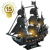 CubicFun Puzzle 3D Queen Anne's Revenge Rompecabezas 3D Nave Kit de Modelo de Barco...