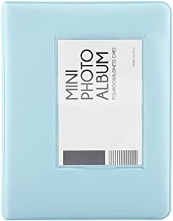 Raguso Mini álbum de fotos Polaroid de 3 pulgadas Mini estuche para almacenamiento de niños (rosa)