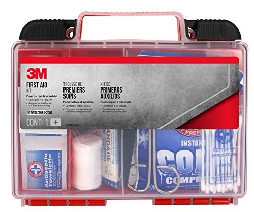 3M Construction/Industrial First Aid Kit, 118 pieces (FA-H1-118PC-DC)