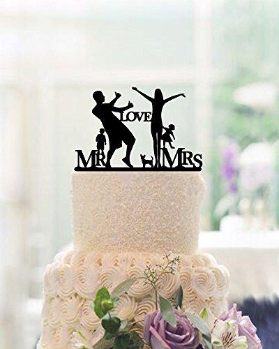 Amor Parejas Boda Figuras de Señor y señora con silueta Niños Familia boda decoración para tarta para aniversario regalos