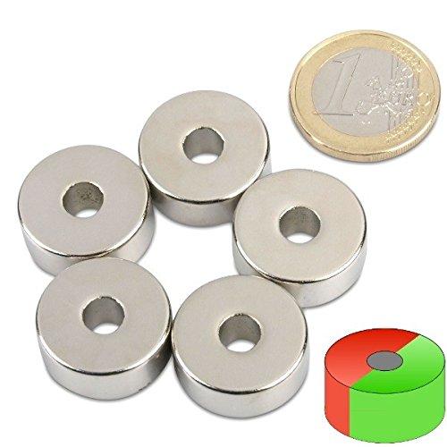 Neodym Ringmagnet Magnetring AUSWAHL Haftkraft bis 36kg starke Supermagnete