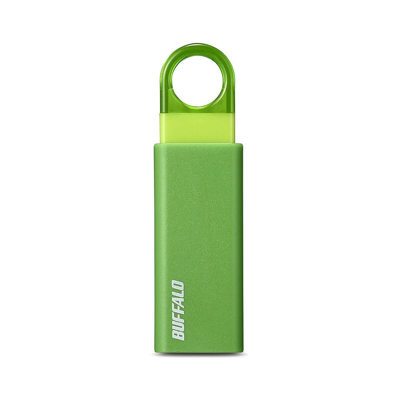歩行者用語集サーバBUFFALO ノックスライド USB3.1(Gen1) USBメモリー 16GB グリーン RUF3-KS16GA-GR