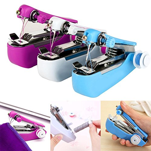 Fantastic Deal! MelysUS Stitch Travel Household Electric Portable Mini Handheld Sewing Machine Sewin...