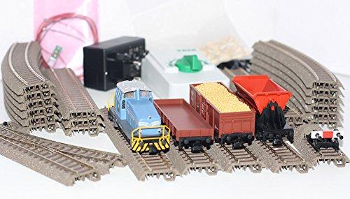 Trix H0 21523 Startpackung Bauzug mit Diesellok DHG 500 + 3 Güterwagen