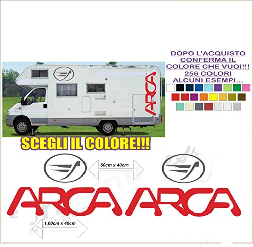 Kit adesivi decal stickers CAMPER ARCA (ability to customize the colors)
