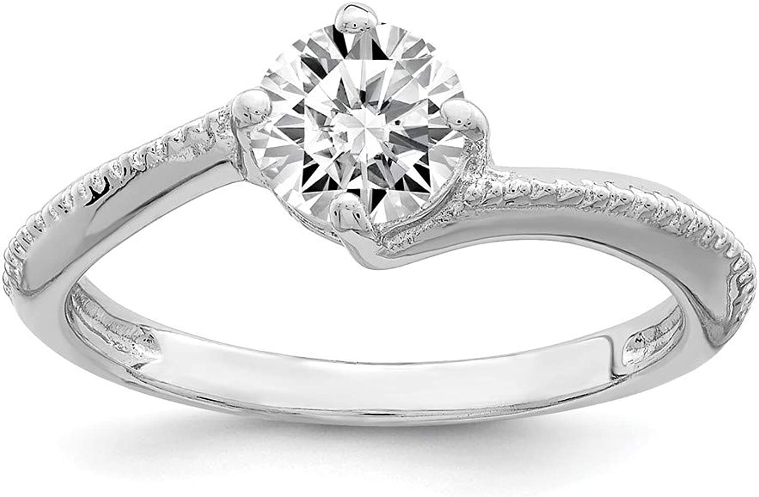 Beautiful Sterling silver 925 sterling Sterling Silver Rhodium Plated CZ Ring