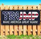 Trump Make America Great Again 13 oz Banner | Non-Fabric | Heavy-Duty Vinyl Single-Sided with Metal Grommets