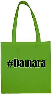 Tasche #Damara Größe 38x42 Farbe Grün Druck Schwarz