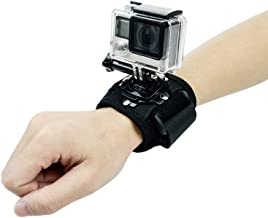 360 Degree Rotary Wrist Strap Mount with Screw for GoPro Hero 8/7/6/5/4/3/3+ SJCAM XIAOYI, GOHIGH Cycling Mount Arm Band Holder Action Camera Outdoor Sports Accessories