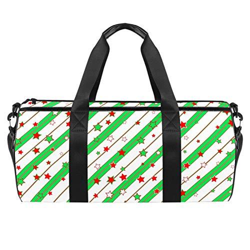 Bolsa de viaje para playa, gran deporte, gimnasio, para la noche, decoración de fondo de Navidad, con estampado de Adviento y bolsillo seco