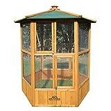 Pets Imperial® - Vogelhäuser Atemberaubendes Vogelhäuschen Nistkasten - Vogelfutterhäuser aus Holz – Vogelhaus Vogelkäfig Voliere mit hexagonales Gittermuster