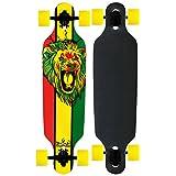 Krown Rasta Freestyle Elite Complete Longboard with Yellow Wheels