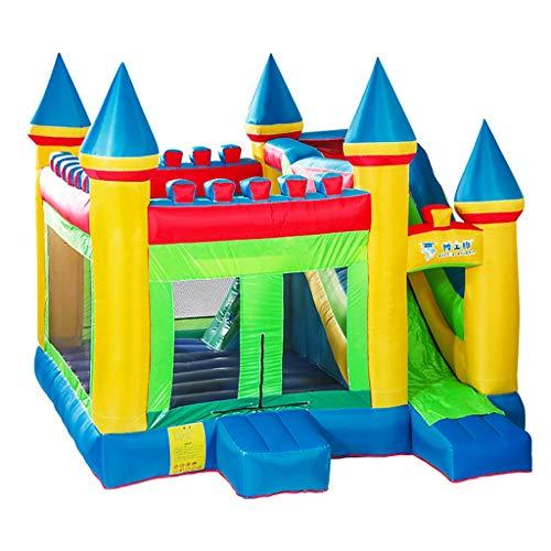 Aufblasbare Rutsche Kinder Große Aufblasbare Burg Kinder Haushalt Trampolin Square Large Vergnügungspark Kinderspielgeräte Kinderspielzeug Spielplatz Fitnessgeräte (Size : 380x410x410cm)