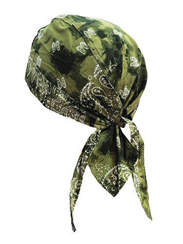 memego Bandana Cap Kopftuch Paisley Shadow Olive
