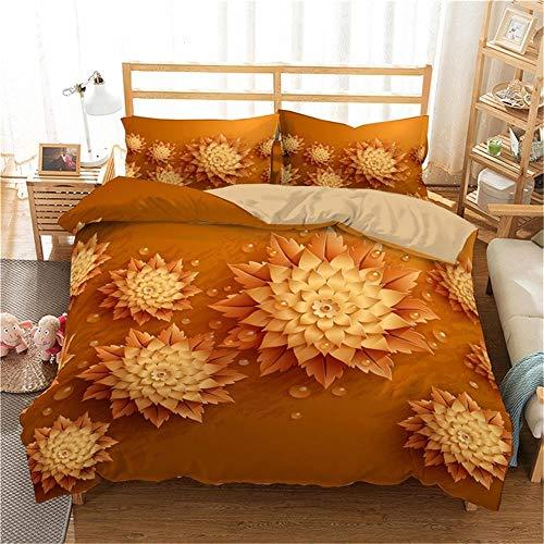Fundas de cama, juegos de cama con estampado de rosas en 3D Juegos de cama con edredón de flores Juego de funda nórdica para dormitorio / Juego de cama Juego de funda nórdica y funda nórdica con