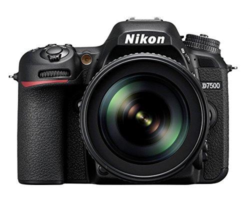 Nikon D7500 KIT AF-S DX 18-105 mm 1:3.5-5.6G ED VR Digitalkamera, 20,9MP CMOS-Filter ohne Optischen Tiefpassfilter schwarz