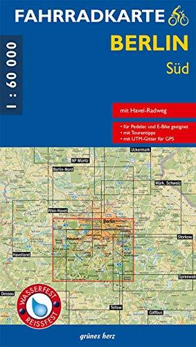 Fahrradkarte Berlin Süd 1:60.000: Mit Havel-Radweg Mit UTM-Gitter für GPS. Maßstab 1:60.000. Wasser- und reißfest. Für Pedelec und E-Bike.