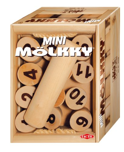 Tactic Games 40358 - Mini Mölkky (Indoor & Outdoor) - Holzwurfspiel
