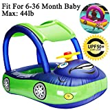Best Baby Floats - iGeeKid Baby Pool Float with Canopy, Car Shaped Review