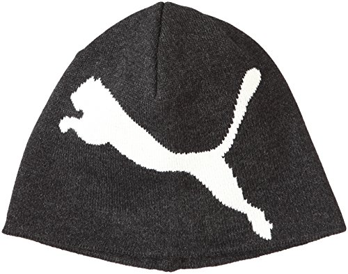 PUMA ESS Beanie, Dark Gray Heather/Big Cat, One Size