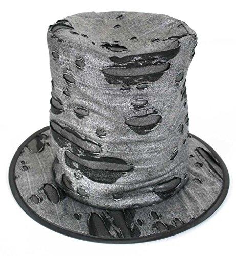 FASCHING 38205 Hut Zombie-Hexer Zylinder Halloween schwarz NEU/OVP