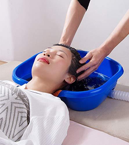 Shampoobak in bed - Shampoo-bak van PP-materiaal voor oudere patiënten en zwangere vrouwen - Haarwasbak met water pijp