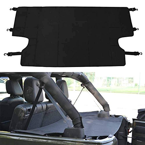 Bosmutus Cargo Cover PRO by Reversible for TOP ON/Topless J-eep JK TJ JL YJ JKU Sports/Sahara/Freedom/Rubicon 2 Door/4 Door Unlimited 1985-2018 Models