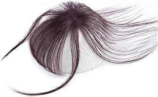 Xiaomeijiafa 前髪ウィッグ 総手植 人毛100% 3D構造つむじ付きシースルーバング ポイントウィッグエクステンション つけ毛 自然 白髪隠し かつら