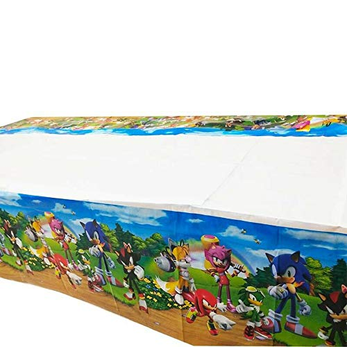 Sonic The Hedgehog Table Cover 70' x 42' Birthday Party Supplies Decorations Tablecloth