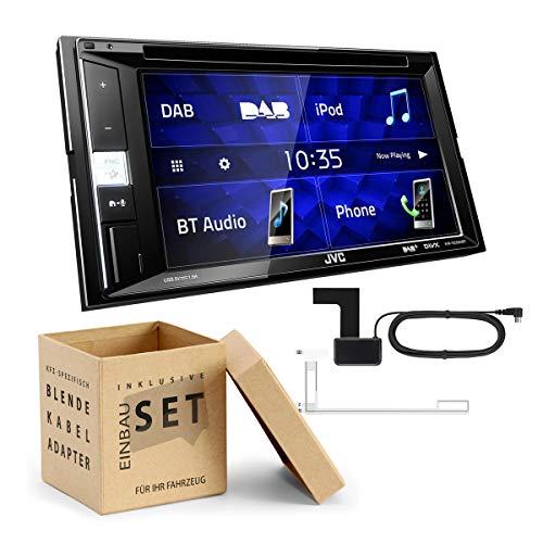 JVC KW-V255DBT 2-DIN Digital DAB-ontvanger incl. DAB-antenne DVD Bluetooth geschikt voor Saab 9-5 2009-2011 zwart