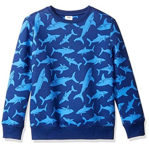 Amazon Essentials Crew Neck Sweatshirt Fashion-Sweatshirts, Blue Shark, Large