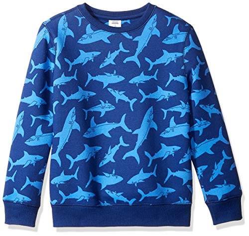 Amazon Essentials Crew Neck Sweatshirt, Blue Shark, L (10)