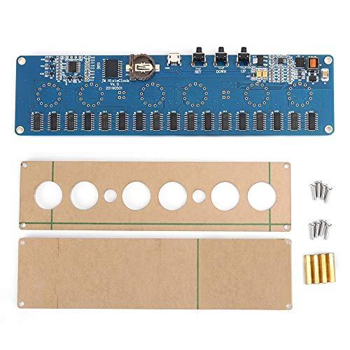 Agatige Placa de Circuito MicroUSB DC Control 12V 1A Electrónico IN14 Nixie Tube LED Placa de Circuito PCBA RGB Chip USB(Interfaz microUSB)