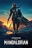 POSTER STOP ONLINE Star Wars: The Mandalorian - TV Show Poster (Mando Walking At Dusk / Nightfall) (Size: 24' x 36')