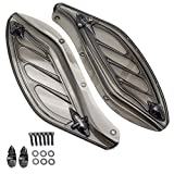 Amazicha Smoke Upper Fairing Side Wing Windshield Air Deflectors Fairing for Harley Touring...