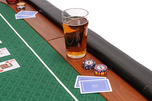 Riverboat Gaming Champion faltbare Pokerauflage mit grünem wasserabweisenden Stoff und Tasche – Pokertisch 180cm - 5