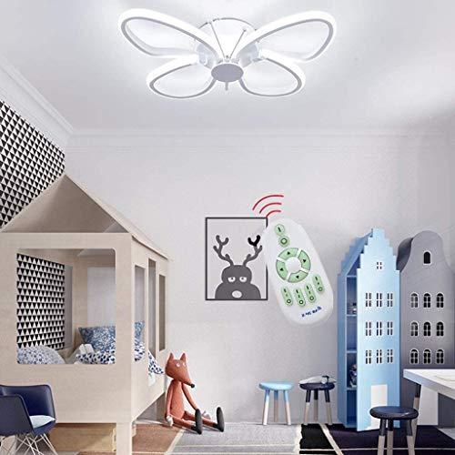 YYBIN plafondlamp, dimbaar, led, plafondlamp, vlinder, pvc-scherm, slaapkamerlamp, design lamp voor woonkamer met afstandsbediening
