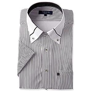 [タカキュー] 半袖 ワイシャツ 吸水速乾 ビズポロ ニットシャツ カジュアル ビジネスシャツ クールビズ対応 メンズ シロ(1) 日本 L (日本サイズL相当)