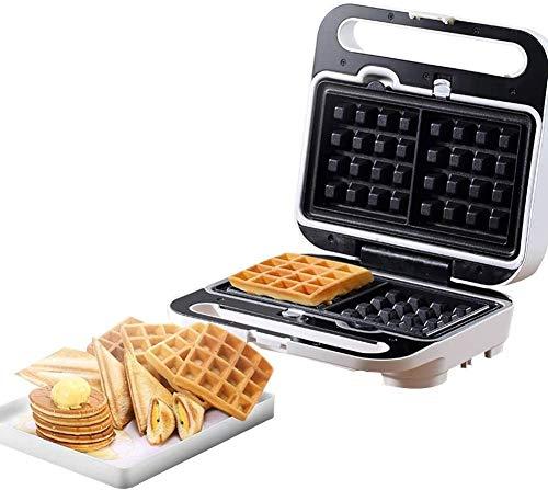 ZOUSHUAIDEDIAN Wafflera, eléctrico Antiadherente Belgian Waffle Hierro Snack-máquina del Fabricante, el Desayuno, sándwiches, Compacto y portátil, 2 rebanadas, Control automático de Temperatura