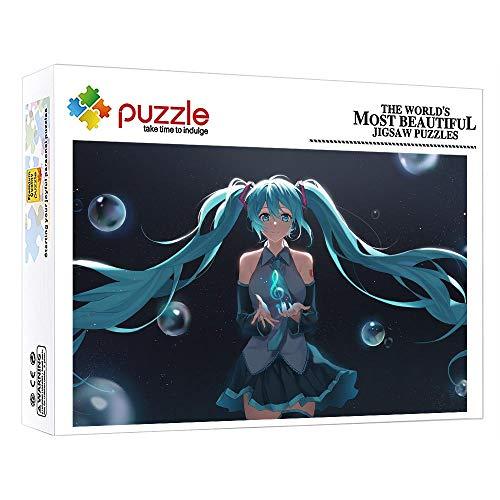 Puzzles para Adultos 1000 Piezas Puzzle De Madera Rompecabezas para Adultos Niño Niña Niños Puzzles 1000 Piezas Hatsune Miku El Rompecabezas Imposible 75X50Cm
