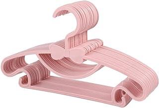 Gobesty Lot de 20 cintres antidérapants en plastique pour enfants - Pour penderie et vêtements - Rose