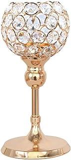 Zandreal Crystal Candle Holders Pillar Table Centerpiece for Wedding Dinner Decor