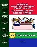 Examen de Ciudadania Americana Español y Inglés: U.S. Citizenship Test English and Spanish (English Edition)