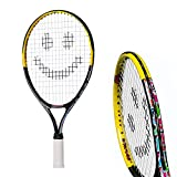 Tennis Rackets for Kids by Street Tennis Club. Proper Equipment Helps You Learn Faster and Play Better! (Black/Yellow, 17)